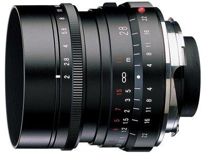 Voigtlander 28mm f2 Ultron lens side photo