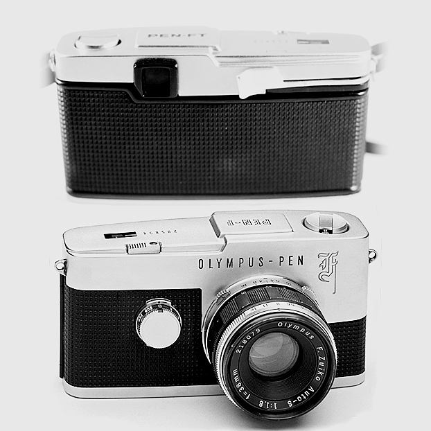 olympus pen f film camera review half frame
