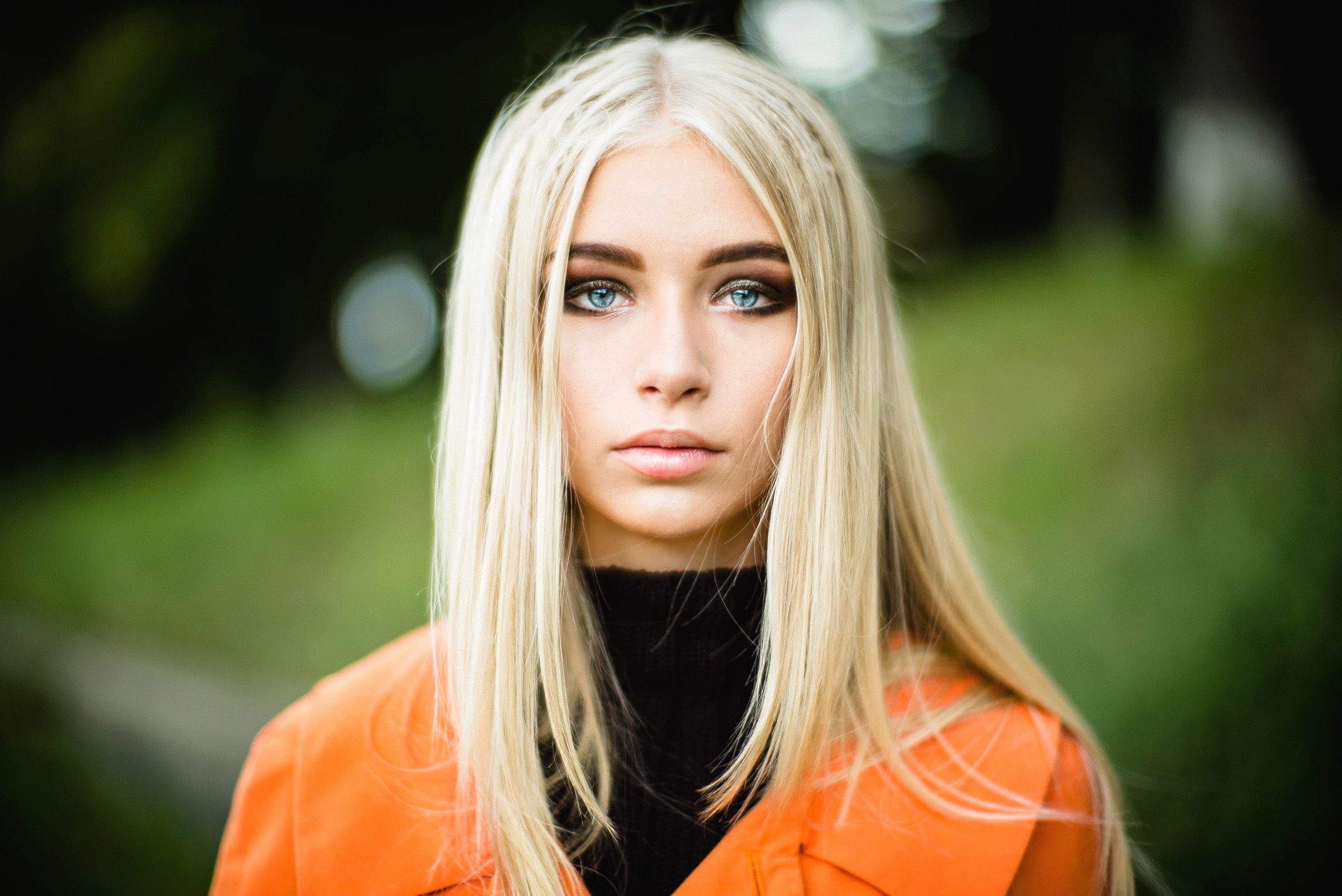 ukraine girl agency model blonde hair blue eyes photo