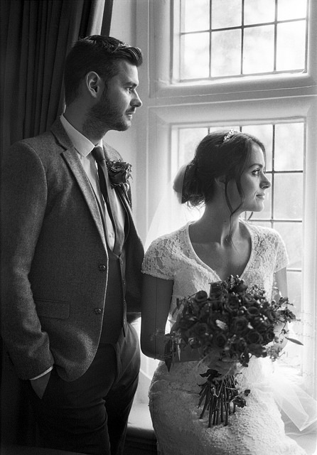 Elegant Black and White Wedding Photography - leica film