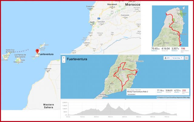 Fuerteventura Cycling Routes strava data maps