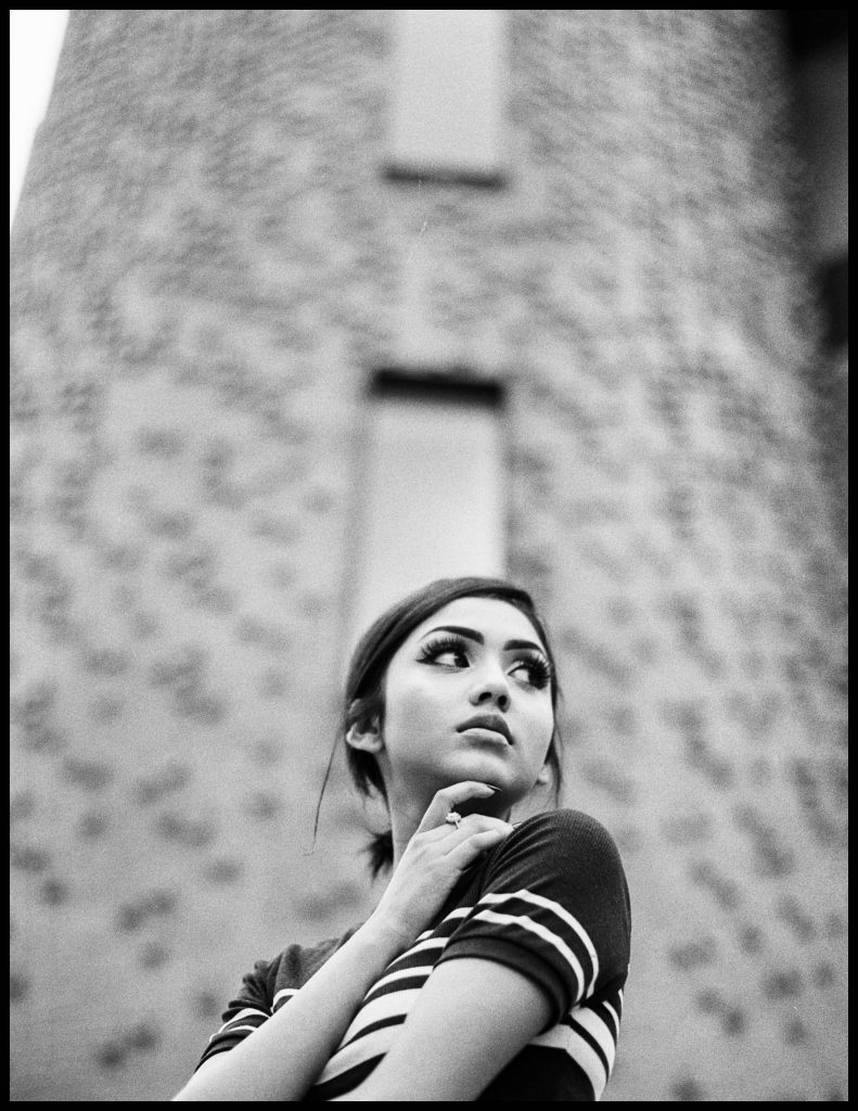 Nikon FE2 Portraits - Asian girl in black and white photo / fashion / 35mm film