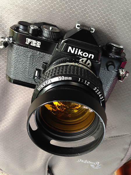 Nikon Fm vs Nikon FE vs Nikon FE2 review - Photo of Nikon FE2 + 50mm f1.2