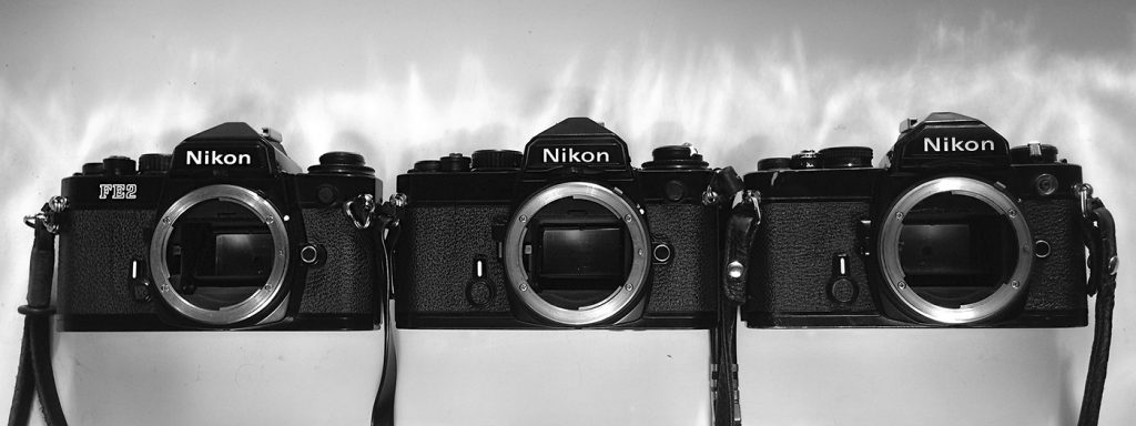 Nikon Fm vs Nikon FE vs Nikon FE2 review comparison photo