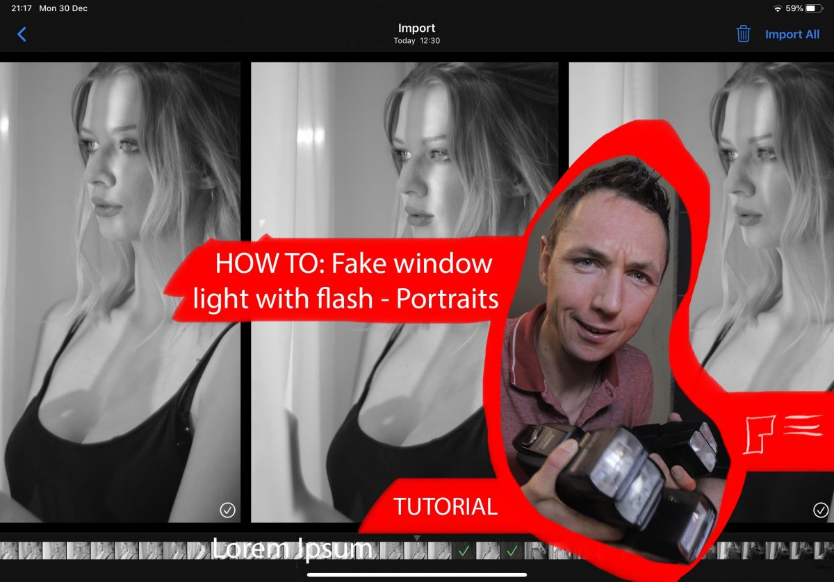 How To – Fake Window Light with Flash (Speedlight Portraits)(YouTube Tutorial)