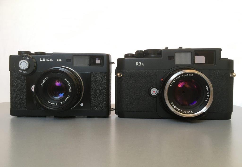 minolta m-rokkor 40mm + Leica CL