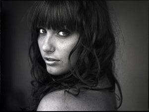 Hasselblad HC Lenses Portraits - B&W Film Girl Photo
